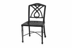 Terrace By Gensun Luxury Cast Aluminum Patio Furniture Armless Dining Chair