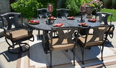 The Amalia Collection 6-Person Cast Aluminum Patio Furniture Dining Set