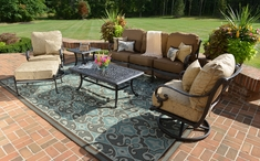 The Amalia Collection 6-Piece Cast Aluminum Patio Furniture Deep Seating Conversation Set