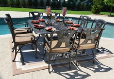 The Amalia Collection 8-Person Cast Aluminum Patio Furniture Dining Set