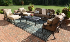 The Amalia Collection 8-Piece Cast Aluminum Patio Furniture Deep Seating Set
