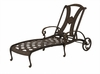 The Amalia Collection Cast Aluminum Patio Furniture Chaise Lounge With Cushion
