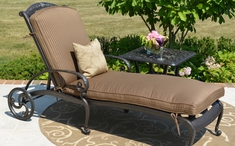 The Amalia Collection Cast Aluminum Patio Furniture Chaise Lounge