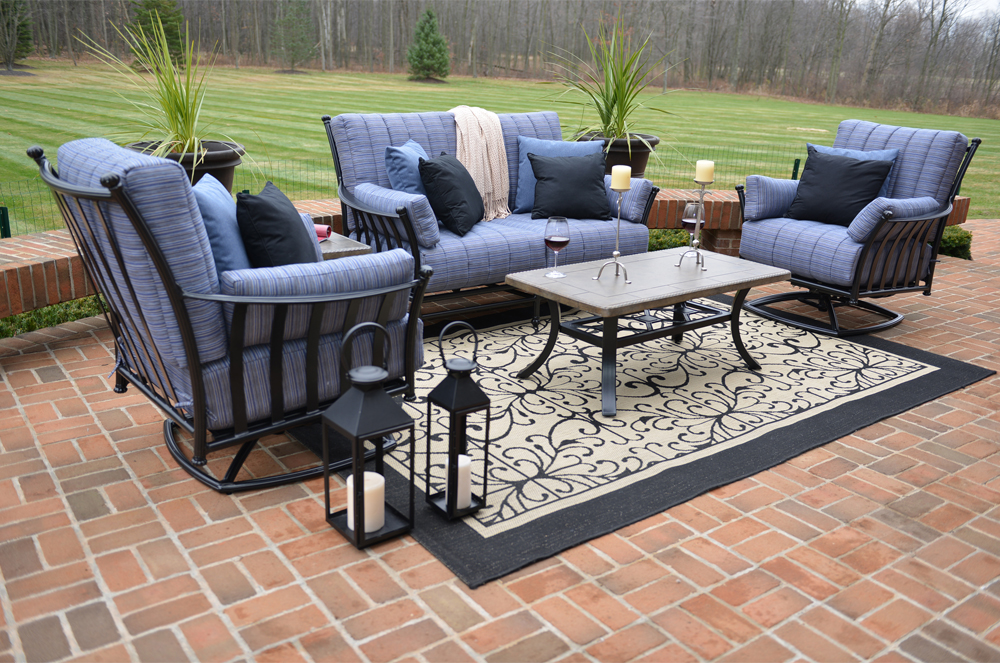 amia 5 piece luxury cast aluminum patio furniture deep