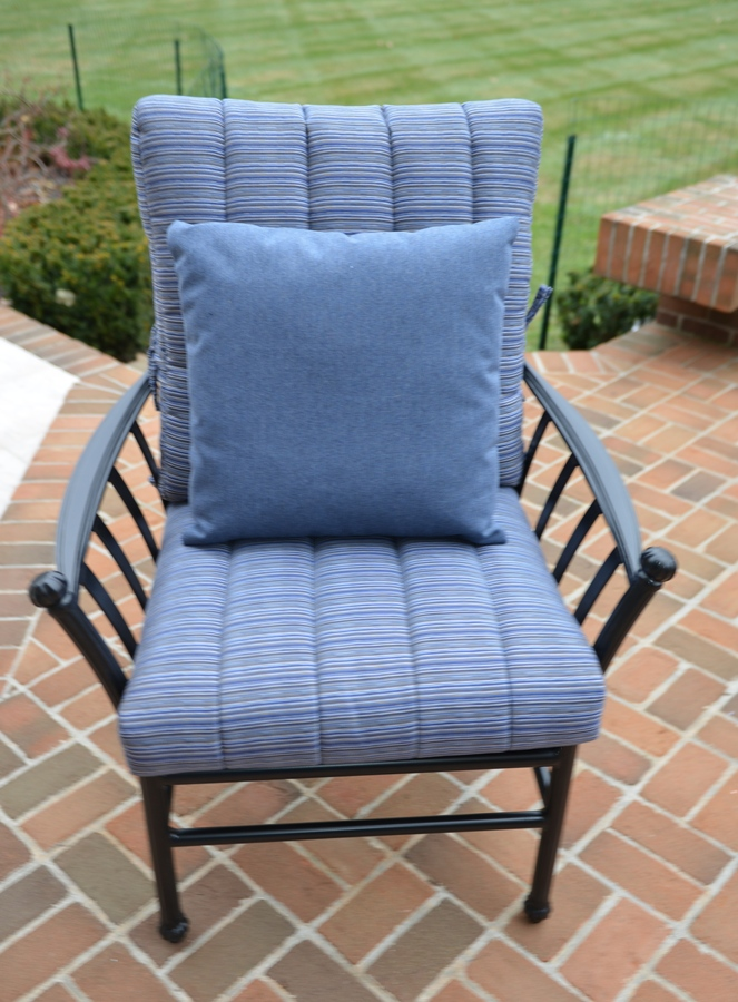 cast aluminum patio furniture deep seating set w stationary chairs