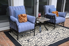 The Amia Collection 2-Person Cast Aluminum Patio Furniture Chat Group