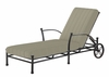 The Amia Collection Cast Aluminum Patio Furniture Chaise Lounge With Cushion