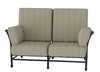 The Amia Collection Cast Aluminum Patio Furniture Loveseat With Cushion