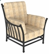 The Amia Collection Cast Aluminum Patio Furniture Stationary Club Chair With Cushion