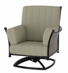 The Amia Collection Cast Aluminum Patio Furniture Swivel Club Chair With Cushion