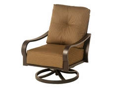 The Crestwood Collection By Alu-Mont Cast Aluminum Swivel Club Chair