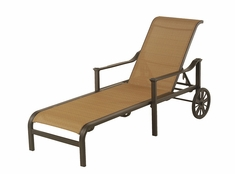 The Edgewood By Alu-Mont Luxury Cast Aluminum Patio Furniture Adjustable Sling Chaise Lounge