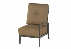 The Edgewood By Alu-Mont Luxury Cast Aluminum Patio Furniture Left Arm Club Chair