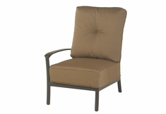 The Edgewood By Alu-Mont Luxury Cast Aluminum Patio Furniture Right Arm Club Chair
