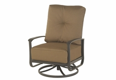 The Edgewood By Alu-Mont Luxury Cast Aluminum Patio Furniture Swivel Club Chair