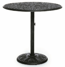 "Grand Tuscany  By Hanamint Luxury Cast Aluminum Patio 42"" Pedestal Bar Table"