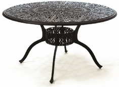 "Grand Tuscany By Hanamint Luxury Cast Aluminum 54"" Patio Dining Table/Lazy Susan"