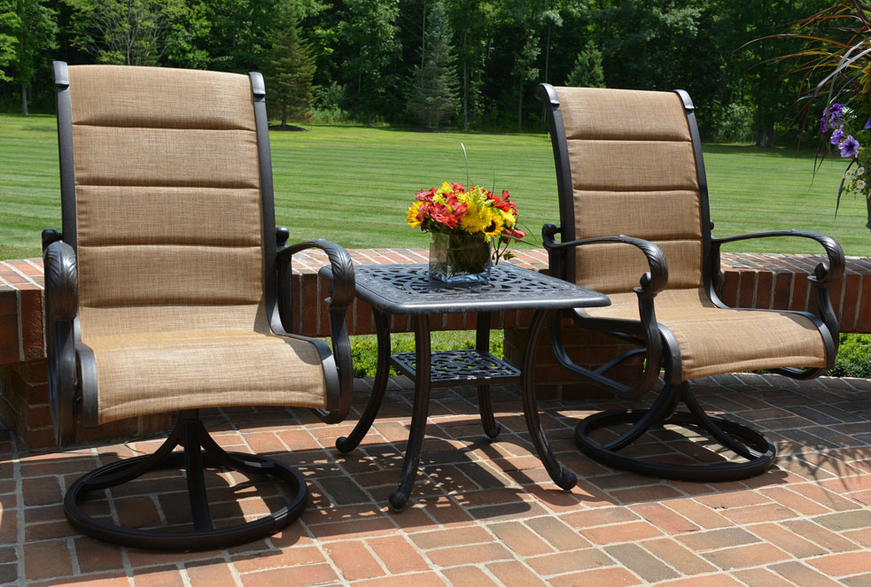 Sling Back Stacking Patio Chairs Modern amp Outdoor