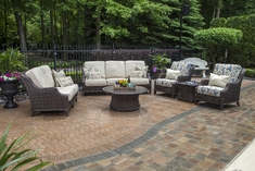 Mila Collection 6-Piece All Weather Wicker Patio Furniture Deep Seating Set