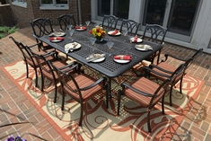 The Renata Collection 10-Person All Welded Cast Aluminum Dining Set