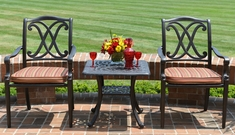 The Renata Collection 2-Person All Welded Cast Aluminum Patio Furniture Chat Set