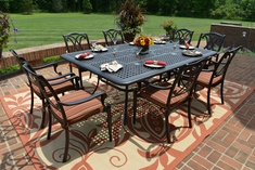 The Renata Collection 8-Person All Welded Cast Aluminum Patio Furniture Dining Set