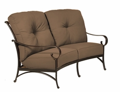 The Santa Barbara Collection By Alu-Mont Cast Aluminum Crescent Loveseat