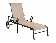 The Santa Barbara Collection By Alu-Mont Cast Aluminum Sling Chaise Lounge