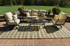 The Serena Collection 5-Piece Cast Aluminum Patio Furniture Deep Seating Set