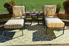 The Serena Collection 2-Person Cast Aluminum Patio Furniture Chat Set