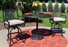 The Serena Collection 3-Piece All Welded Cast Aluminum Patio Furniture Bar Height Set