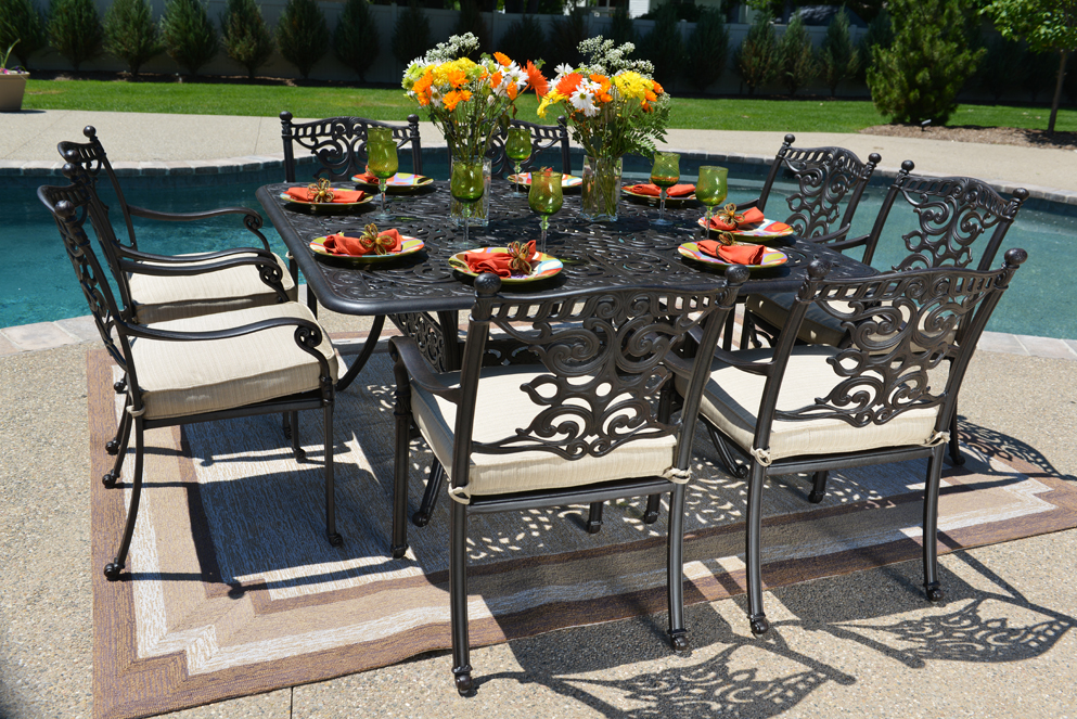 Serena Luxury 8 Person All Welded Cast Aluminum Patio