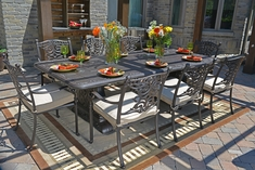 The Serena Collection 8-Person All Welded Cast Aluminum Patio Furniture Dining Set