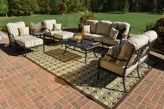 The Serena Collection 8-Piece Cast Aluminum Patio Furniture Deep Seating Set