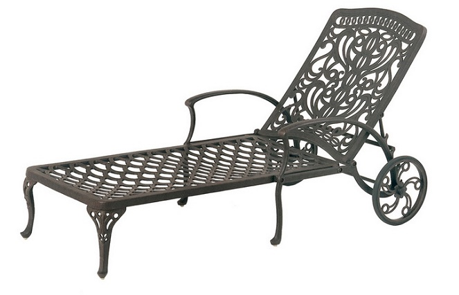Shop Tuscany By Hanamint Luxury Cast Aluminum Patio Furniture Chaise Lounge