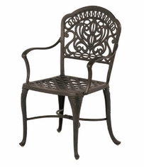 Tuscany By Hanamint Luxury Cast Aluminum Patio Furniture Stationary Dining Chair