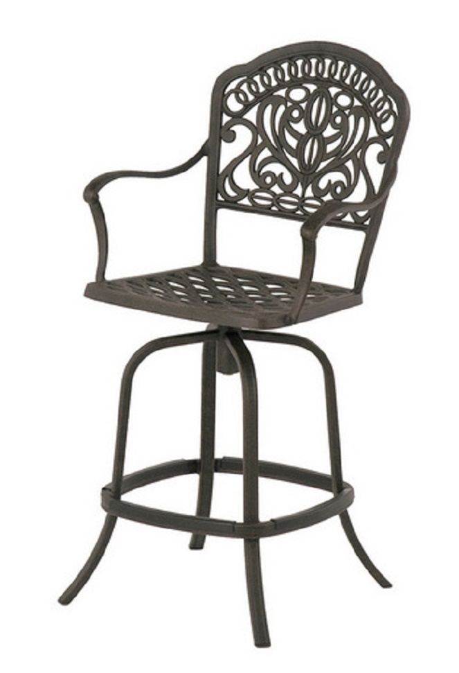 Tuscany By Hanamint Luxury Cast Aluminum Patio Furniture Swivel Counter Heigh