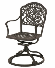 Tuscany By Hanamint Luxury Cast Aluminum Patio Furniture Swivel Dining Chair