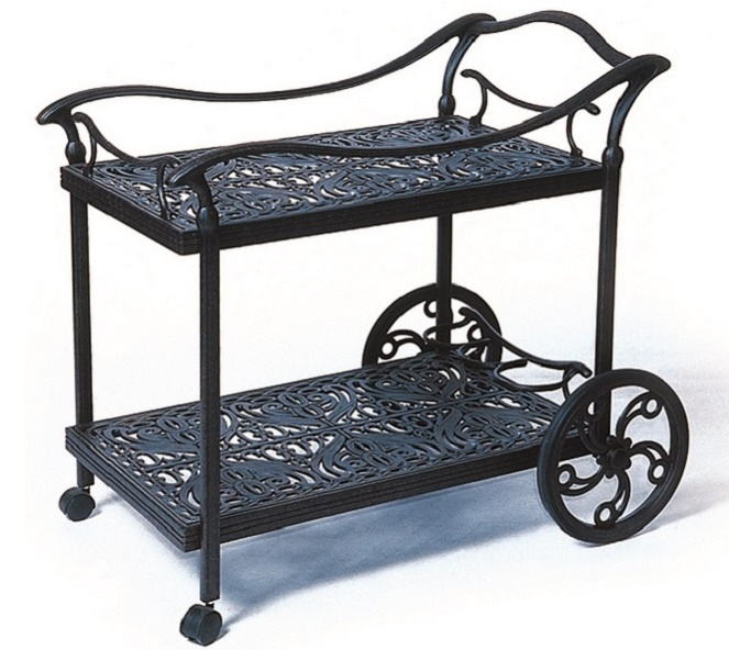 Tuscany By Hanamint Luxury Cast Aluminum Patio Furniture Tea Cart