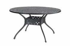 "Verona By Gensun Luxury Cast Aluminum Patio Furniture 54"" Round Dining Table"