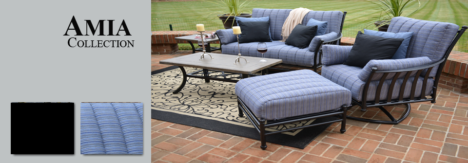 view all cast aluminum patio furniture deep seating sets