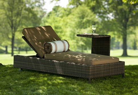 Exclusive All Weather Wicker Patio Chaise Lounges By Open