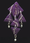 Mam' Style #AC531 Abstract Chimes Purple Earring ~ Have One Pair Of Pierced Left