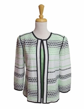 Ming Wang #M6845AC Margarita/White/Black Jacket