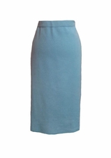 "Ming Wang #MS2500 25"" Drew Blue Straight Skirt"