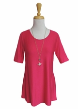 """Multiples Clothing #M27117TM """"Pulitzer Prize"""" Bright Pink Top"""