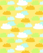 "Gingham Clouds 24""X417'"