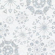 "Glittering Snowflakes Holographic 24""x417'"