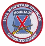 10th Mountain Division Patch with Rifles