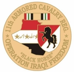 11th Armored Cavarly Operation Iraqi Freedom Pin